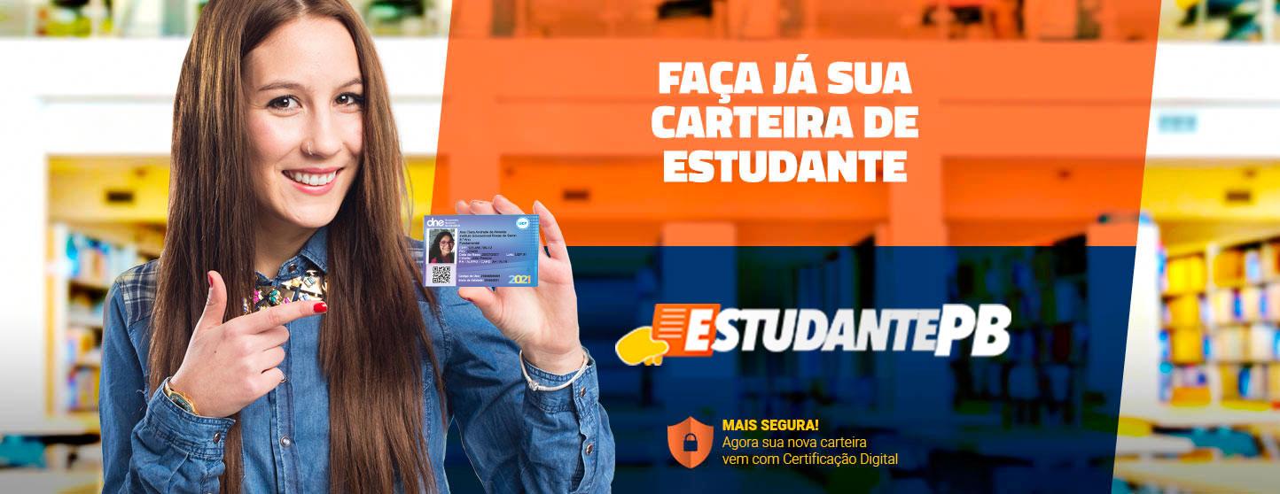 Faça já sua carteira de estudante! - EstudantePB